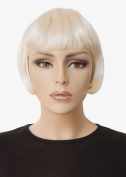 Platinum Blonde Bob Wig, Short, Louise Brooks Style