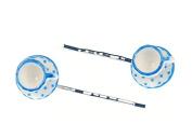 Tassen 2er Set Haarspangen Haarnadeln Miniblings Teetassen Tasse Teatime blau