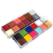 AOZZY 12 Colours Flash Tattoo Face Body Paint Oil Painting Art Halloween Party Fancy Dress Beauty Makeup Tools