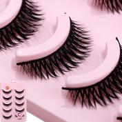 Acrylic Long Thick 5 Pairs Makeup Beauty False Eyelashes Eye Lashes Extension