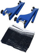 Relaxdays Metal Table Tennis Net Ping Pong Net with Screw-In Table Clamps Size