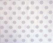 Tahari Home Kids 3 Piece Cotton Twin Sheet Set Small Geometric Medallions Pastel Pink Light Purple on White
