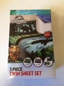 Jurassic World 3 Piece Twin Sheet Set