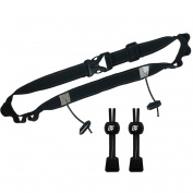 Triathlon Race Number Belt with Elastic No Tie Shoelaces in black - I AM UK SELLER!