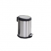 Stainless Steel Covered Downhill Household Foot-type Bathroom Mute Living Room Kitchen Foot Trash,5L