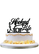 Beautiful Weeding Gift,Hooked For life cake topper