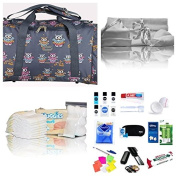 Luxury pre-packed hospital bag/maternity/holdall for Mum & Baby - navy owls NEXT WORKING DAY DELIVERY* AVAILABLE