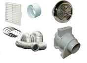 SMF100T 220 m3/h 61 l/s Timer Inline Extractor Shower Extractor Fan Shower Chrome Kit 4
