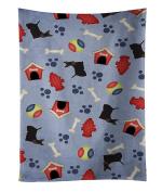 Caroline's Treasures BB4117KTWL Dog House Collection Scottish Terrier Kitchen Towel , 38cm X 70cm , multicolor