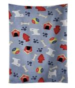 Caroline's Treasures BB4126KTWL Dog House Collection West Highland White Terrier Kitchen Towel , 38cm X 70cm , multicolor