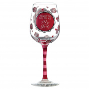 "Our Name Is Mud ""Be My Bridesmaid"" Wine Glass"
