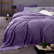 BDUK Minimalist Solid Colour Baby Lint-Free Flannel Blanket Thick Winter Double Blanket Thick Wool Blankets ,B,200*230Cm Bedspreads Blanket Cover