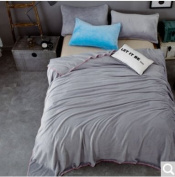 BDUK Minimalist Solid Colour Baby Lint-Free Flannel Blanket Thick Winter Double Blanket Thick Wool Blankets ,J,150*200Cm Bedspreads Blanket Cover