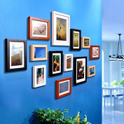 Solid wood Photo frame set 13 creative decorating painting boxes