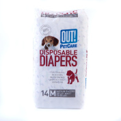 OUT! Disposable Dog Nappies, Medium, Pack of 14