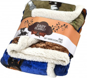 Baby Soft Poly fleece Sherpa Blanket 80cm X 110cm