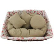 Ikevan 4 PC Newborn Photography Basket Filler Wheat Donut Posing Props Baby Pillow