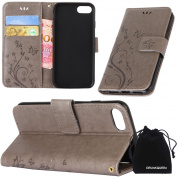 iPhone7 Case, DRUnKQUEEn Premium Quality Protective Flip Folio PU Leather Cover Wallet Phone Holder with Foldable Kickstand for Apple iPhone7