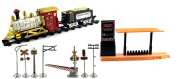 Classical Cenveyance Express Battery Operated Toy Train Set w/ 2 Train Cars, 8 Railway Tracks