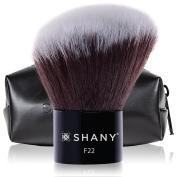 SHANY Angled Kabuki Blush & Bronze with Synthetic Bristles, Black
