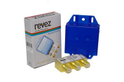 Revez Gold Premium 2 x 1 Satellite DiSEqC Switch (2 in 1 out) Full HD 1080p Ready + Water Resistant Cover