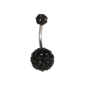 Anself 1Pc Stainless Steel Belly Button Piercing Jewellery Piercing Bar, 10mm & 6mm