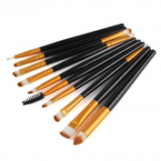 Make Up Brushes, Webla 10 pcs Rose Toiletry Kit Wool Make Up Brush Set