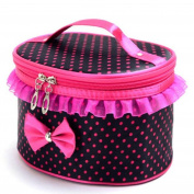 Rcool Portable Travel Cosmetic Bag Makeup Tool Case Storage Box Pouch Toiletry Bright Organiser Container Holder Handbag