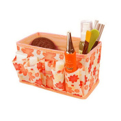 Rcool Portable Foldable Cosmetic Bag Makeup Tool Case Storage Box Pouch Toiletry Bright Organiser Stationary Container Bag