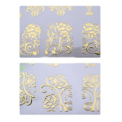 Nail Art Longra 108 PCS 3D DIY Nail Art Stickers Decals Stamping (Silver/Gold) * Decoration Tools (18*21CM) ! !