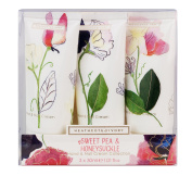 Heathcote & Ivory Sweet Pea and Honeysuckle Hand & Nail Cream Collection, 30 ml, Pack of 3