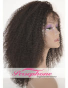 Brazilian Kinky Curly Lace Front Human Hair Wigs For Black Women Best Remy Hair Replacement Full Wig With Baby Hair 130% Density 36cm Colour #1