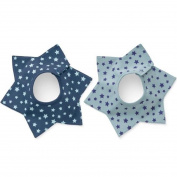 GS.Lee 360 Degree Six Star Waterproof Absorbent Terry Baby Bibs with Snaps, Star
