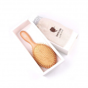 Huluwa Hair Brush Massage Brush Comb Natural Wood Beech Handle Anti Static Wooden Bristles Hairbrush, Super Big, Straight Tooth