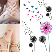 Body Art Temporary Removable Tattoo Stickers Dandelion Sticker Tattoo - FashionDancing