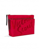 Victoria's Secret VS Double Zip Bag- Red