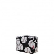 Baseball Print NGIL Large Cosmetic Travel Pouch