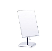 Belle 18cm Makeup Mirror in Chrome Finished Rectangle Tabletop HD Silver Cosmetic Mirror