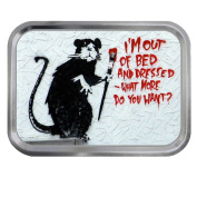 Banksy Art Out of Bed 60ml Tin Tobacco Storage