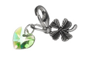 Good Luck Clip on Charm with a Four Leaf Clover by Libby's Market Place