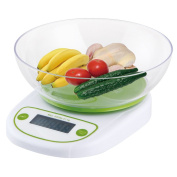 ParaCity Digital Kitchen Scale 11lb/5kg Multifunctional Food Kitchen Bowl Scale with Backlight LCD Display