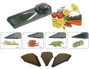 Multi Purpose Fruit And Vegetable Slicer Super V Slicer Stainless Steel 5 In 1 Professional Slicer HTUK®