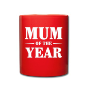 Mum Of The Year Mother's Day Full Colour Mug by Spreadshirt®‎, red