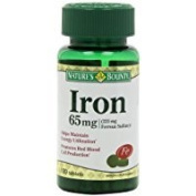 Nature's Bounty Iron 65 Mg.(325 mg Ferrous Sulphate), 100 Tablets Thank you to all the patrons We hope that he has gained the trust from you again the next time the service