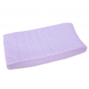 Happy Chic Baby by Jonathan Adler Emma Changing Pad Cover, Purple/White