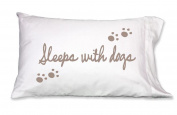 Sleeps With Dogs 300 Thread Count Cotton Pillowcase by Faceplant Dreams