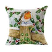 Pillow Cases,Dirance(TM) Home Decor Christmas Linen Square Throw Flax Decorative Cushion Pillow Cover