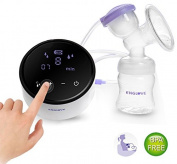 Electric Breast Pump Single Comfort Breastpump- 2 Mode Suction & Massage