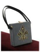 Exclusive Gothic Elegant Retro Embroidery Deco Velvet Square Tote/Box Bag