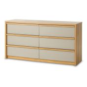 Childcraft Loft Double Dresser, Potters Clay/Oiled Oak